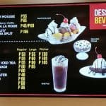 Desserts And Beverage Menu At Kenny Rogers