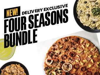 Four Seasons Bundle Pizza Promo At Yellow Cab