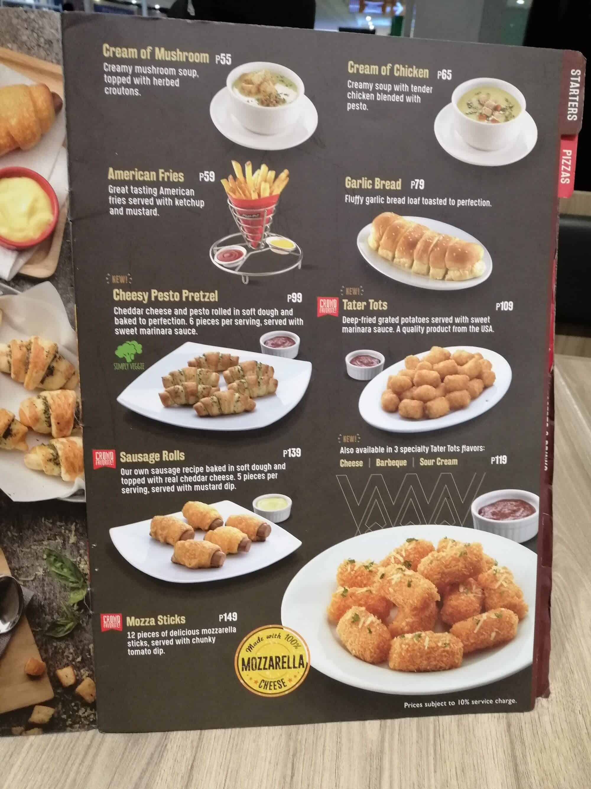 Pizza Hut Menu Philippines 2021 Philippine Menus