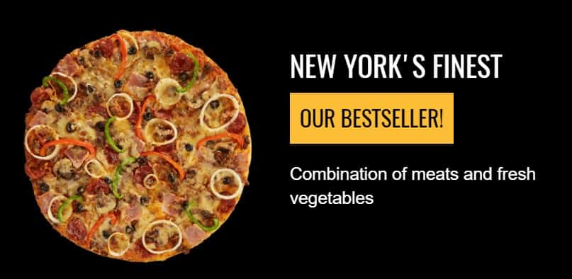 New York's Finest Pizza On Yellow Cab Menu