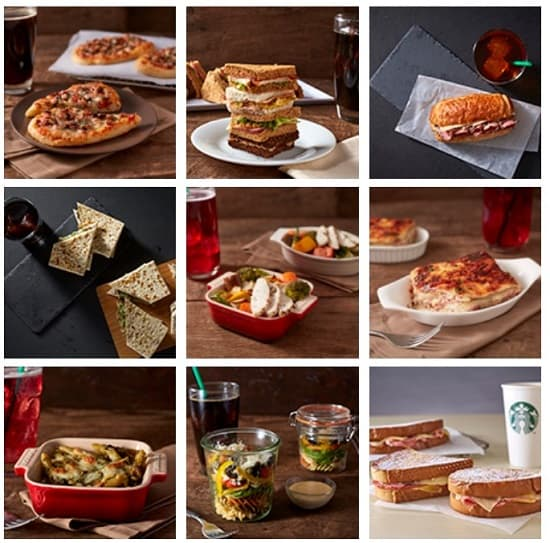 Some Of The Food On The Starbucks Menu