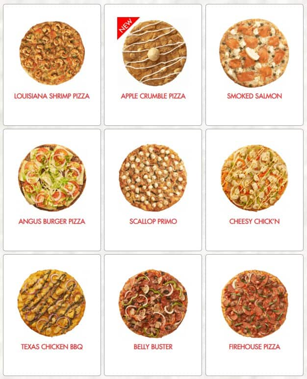 Some Of The Pizza Available On Shakey's Menu