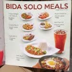 Bida Solo Meals At Kuya J