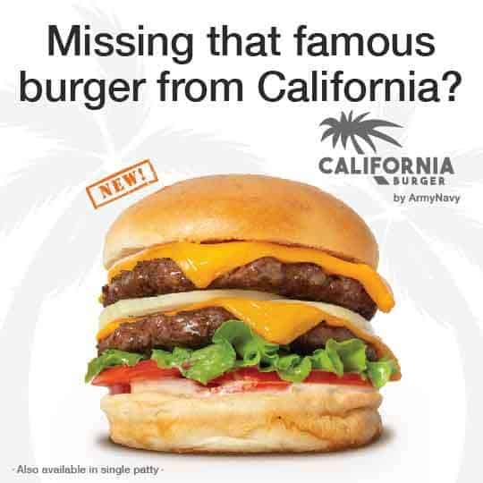 California Burger On The Army Navy Menu
