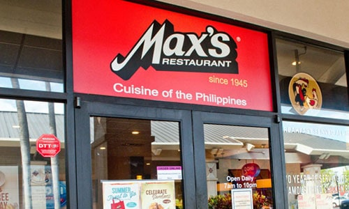 Max's Restaurant In The Philippines