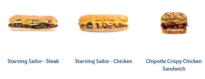 Sample Of Sandwiches On The Army Navy Menu